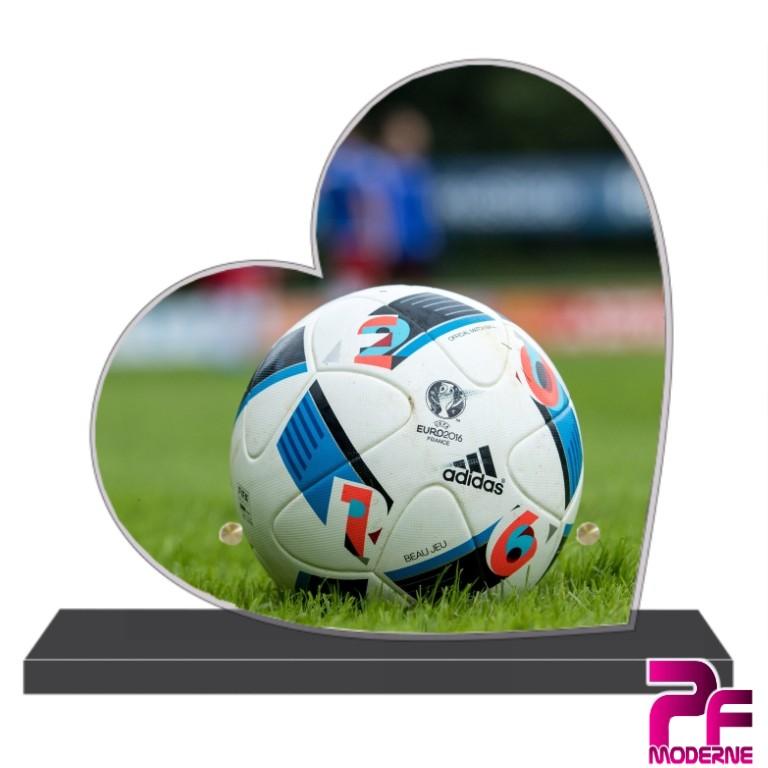 Plaque funéraire coeur - football