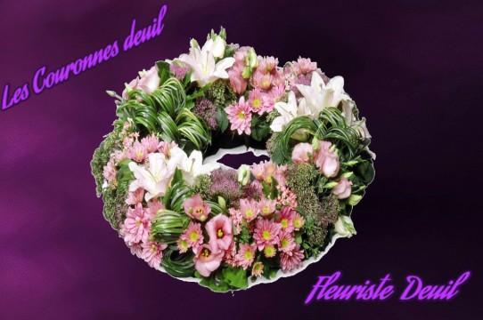 couronne de fleurs deuil - LIVRER DES FLEURS DEUIL